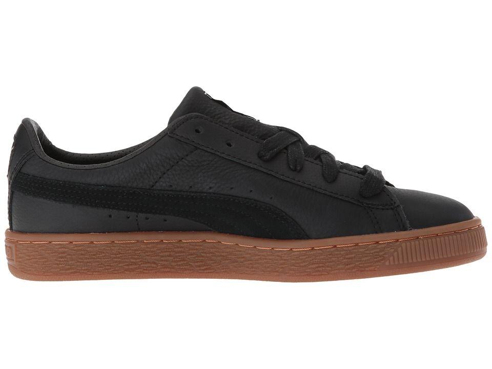 db1e00aa469d8 Puma Kids Basket Classic Gum Deluxe (Big Kid) Kids Shoes Puma Black Puma  Black