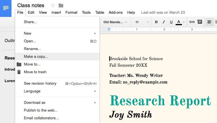 How to create a template in google docs templates