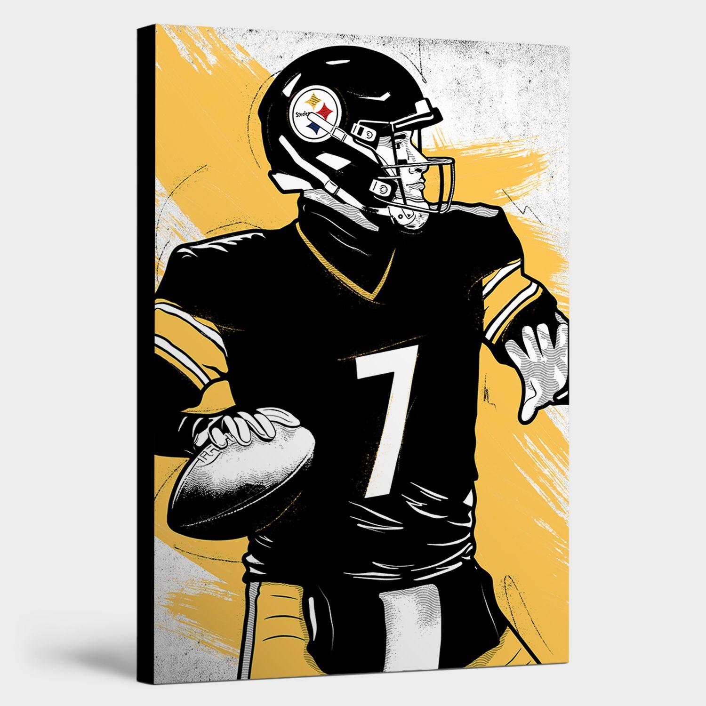 Ben Roethlisberger Canvas Print Football canvas, Canvas