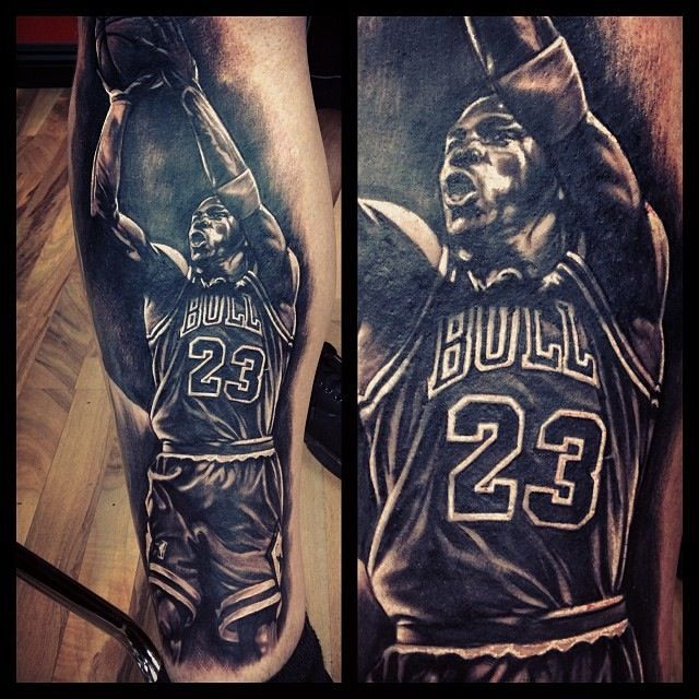 Michael Jordan By Fernie Andrade Tattsss Piercings Pinterest