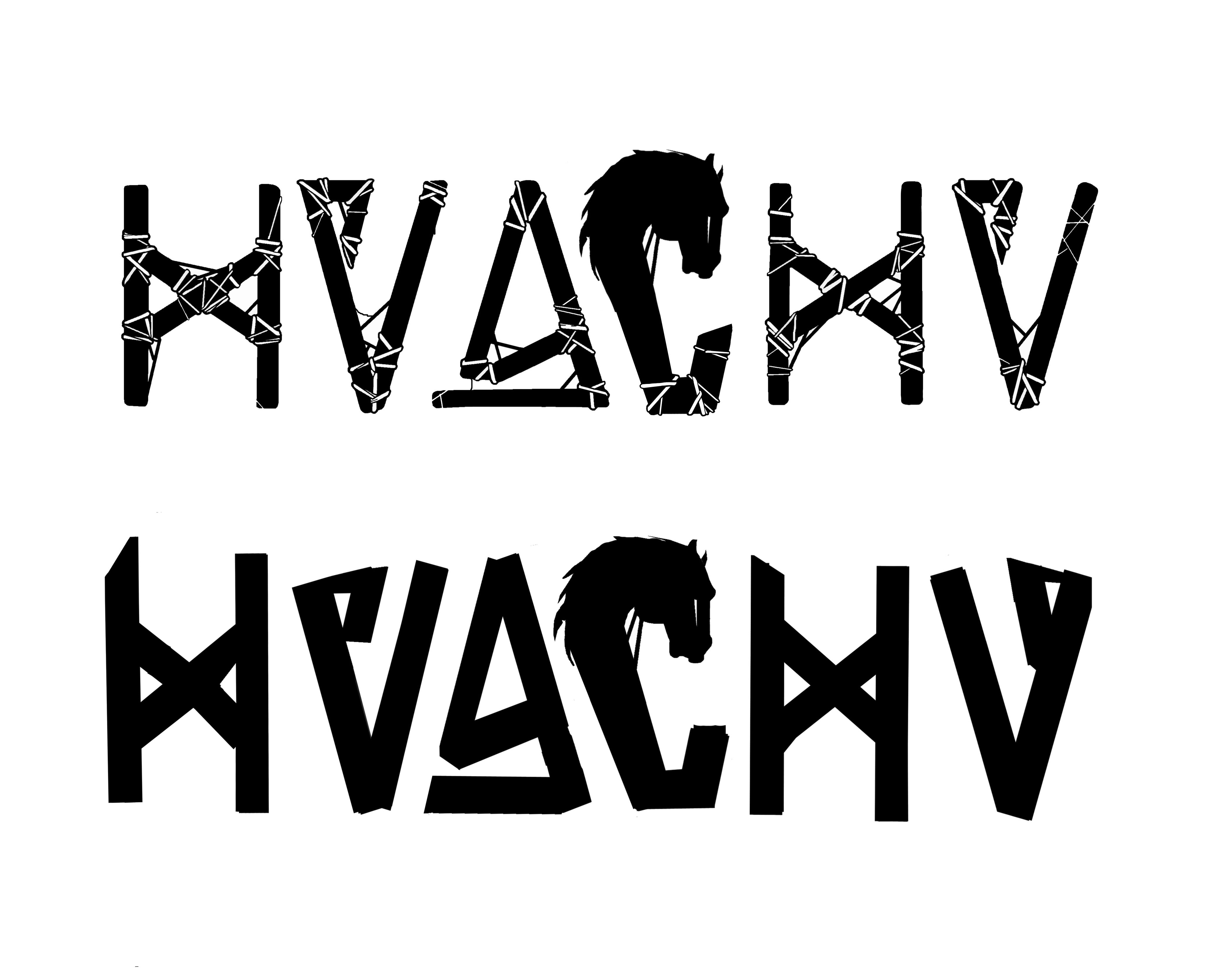 Color art tipografia - Logotipo Para La Banda De Rock Huachu Palabra Quechua Para Designar Al Gaucho Hu Rfano