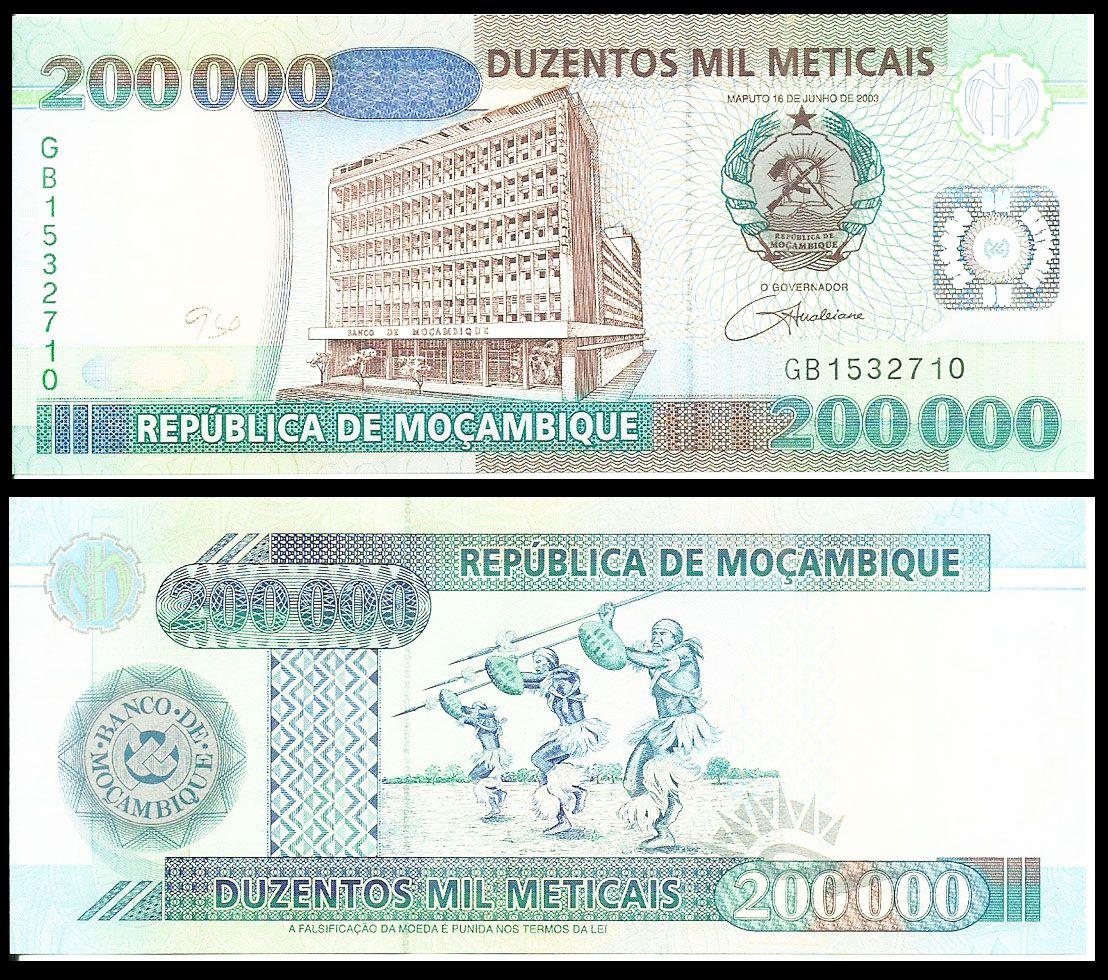Mocambique Mocambique Cedulas Brasileiras E Notas