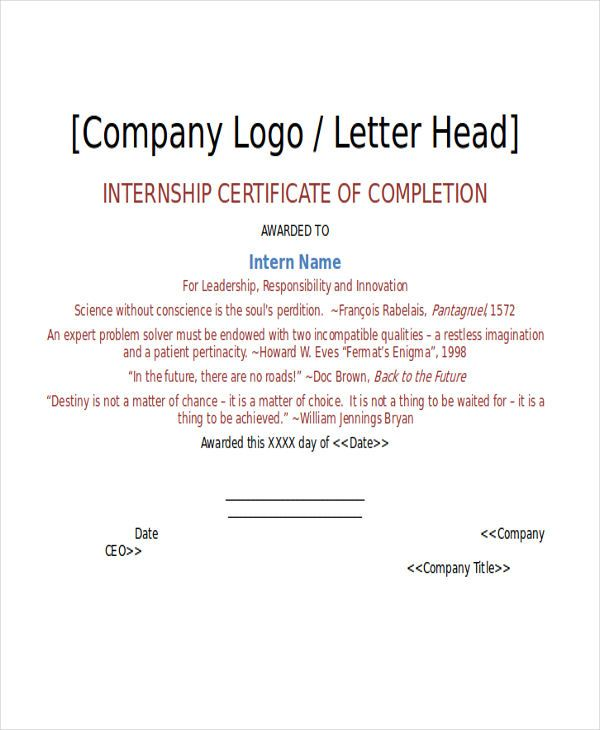 Certificate Letter Templates Free Sample Example Format Download