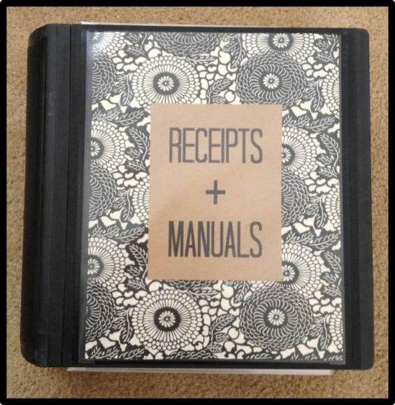 the weekend organizer {organizing big ticket receipts + manuals + warranties} | Fabulously Organized Home