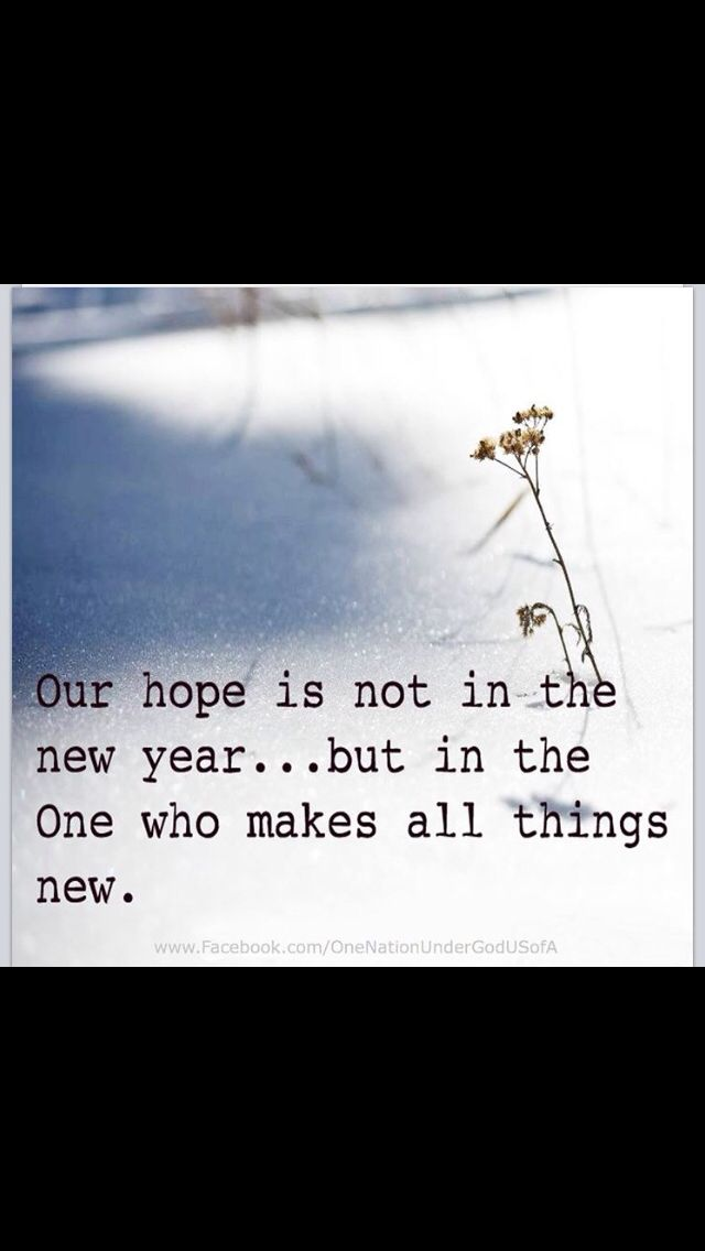 our hope is in the one who makes all things new new year