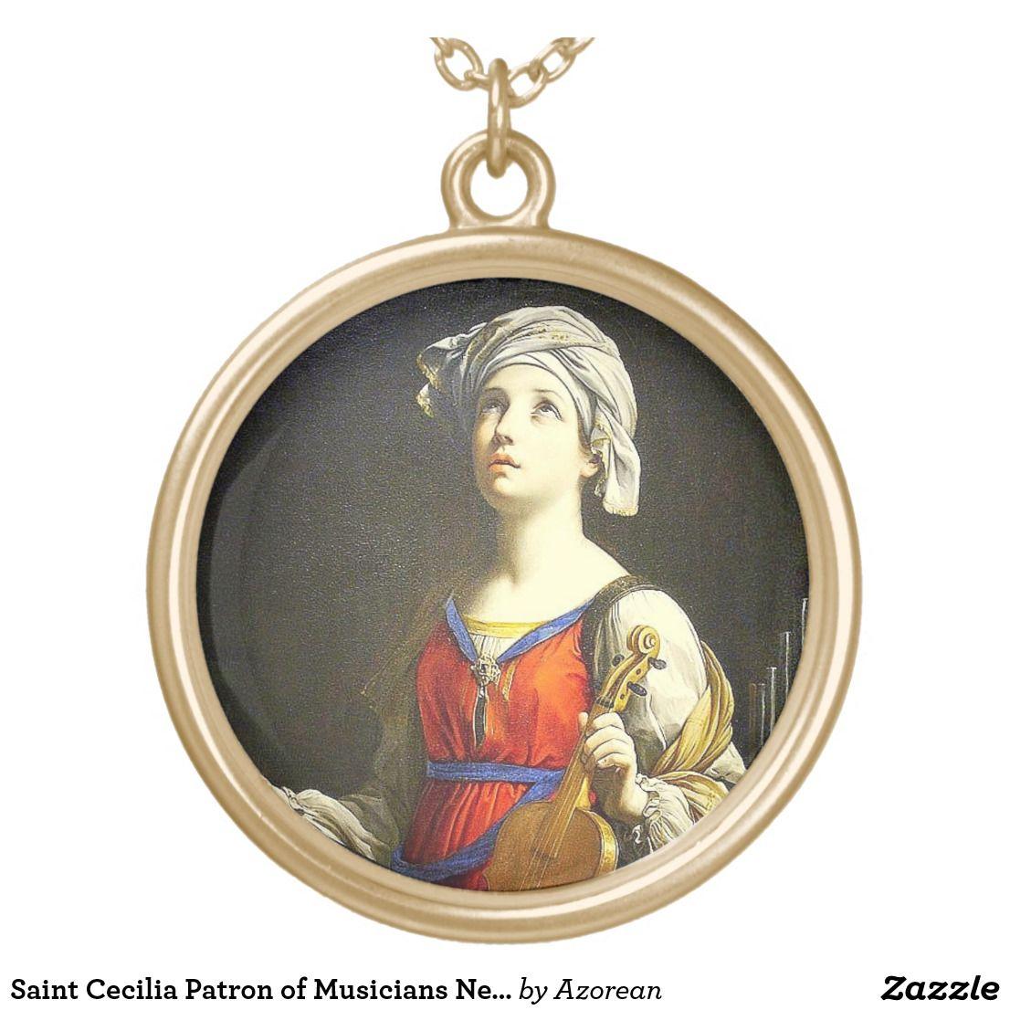 Saint cecilia patron of musicians necklace catholic saints saint cecilia patron of musicians necklace mozeypictures Choice Image