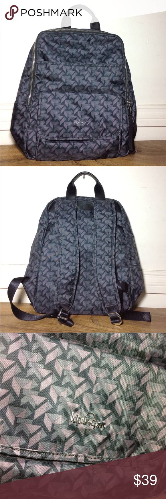 "Kipling Backpack 🎒 Authentic Kipling Backpack, gently worn no stains or holes clean in and out 👌🏽 with 4 out pockets and 4 inside very spacious, length: 16"" width: 14"" Kipling Bags Backpacks"