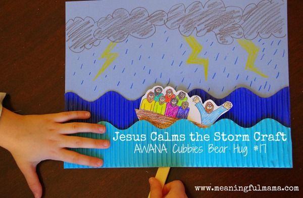 Jesus Calms The Storm Craft Bible Crafts Preschool Jesus Calms The Storm Sunday School Crafts
