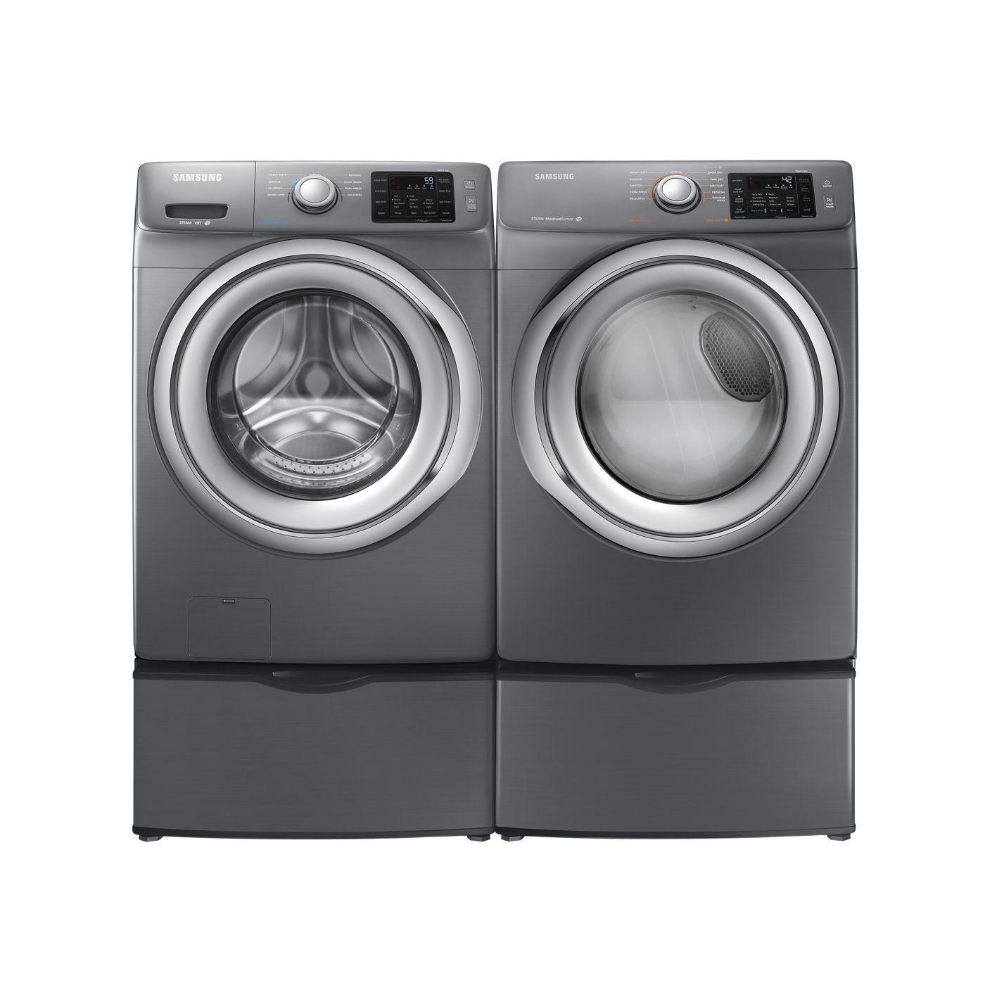 my beloved samsung steam washer and dryer in platinum love love love them