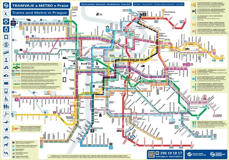 tram map in prague Prague Metro And Tram Map Transit Map Metro Map Map tram map in prague