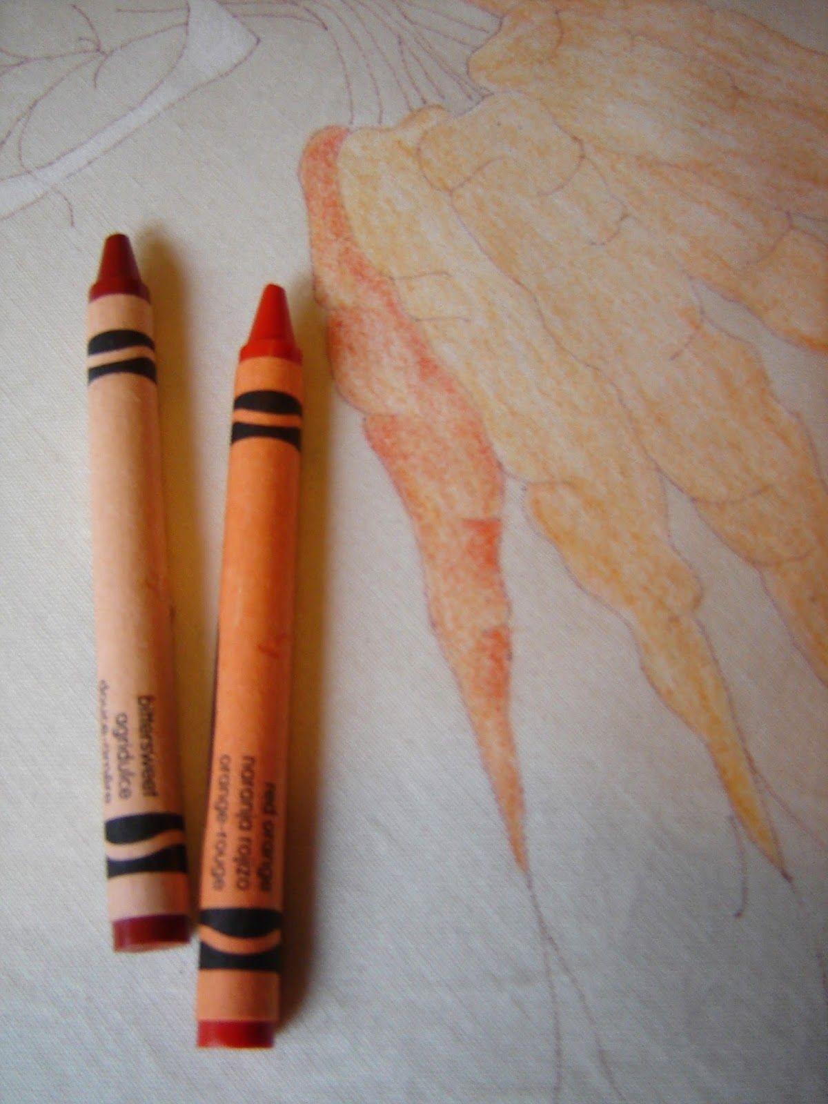 How To Color With Crayons : color, crayons, Color, Crayons, Fabric!, Fabric, Painting, Techniques,, Embroidery, Patterns,