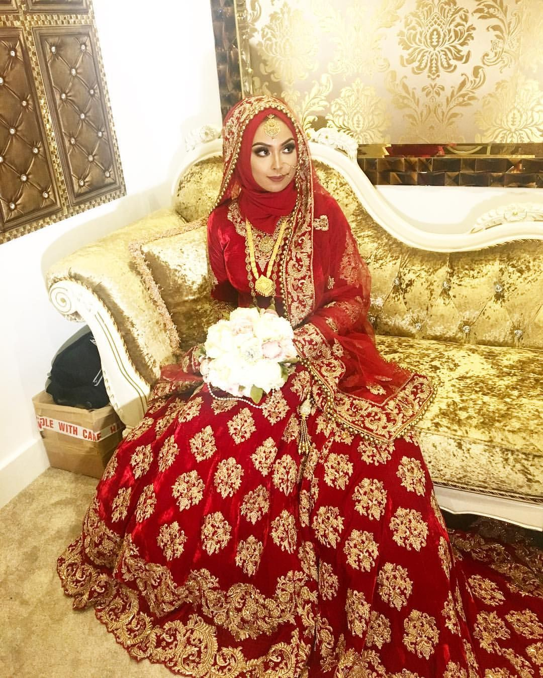 See this instagram photo by shahnazrahman 218 likes for Muslim wedding dresses with hijab