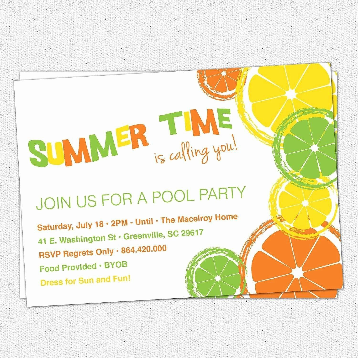 Blank Party Invitation Template Inspirational Awesome Blank Invitation Templates Ks1 In 2020 Party Invite Template Pool Party Invitations Summer Party Invitations