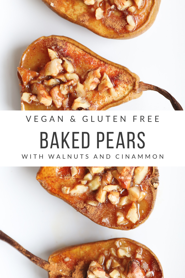 #low calorie dinner Baked Pears with Walnuts - Spoonful of Kindness