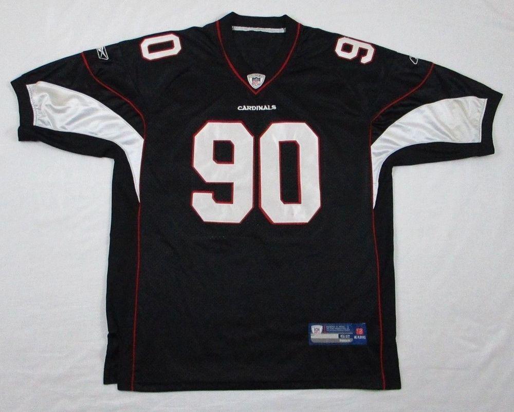 on sale ae4da 0e9f4 mens cardinals nfl jersey black size 52 arizona reebok ...