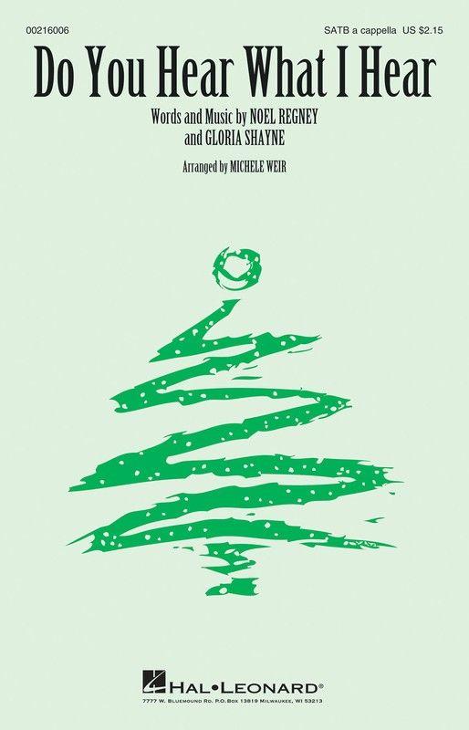 Do You Hear What I Hear - SATB | Carol of the bells, Christmas music, Christmas carol