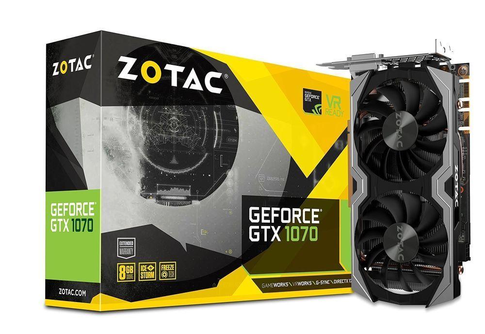 Zotac Geforce Gtx 1070 Mini 8gb Gddr5 Vr Ready Super Compact Gaming Graphics Car Zotac