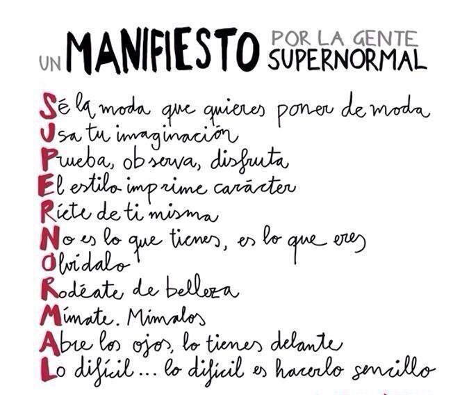 Manifesto ...