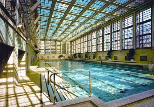 Beautiful Municipal Pool, Berlin 1929. Heinrich Tessenow