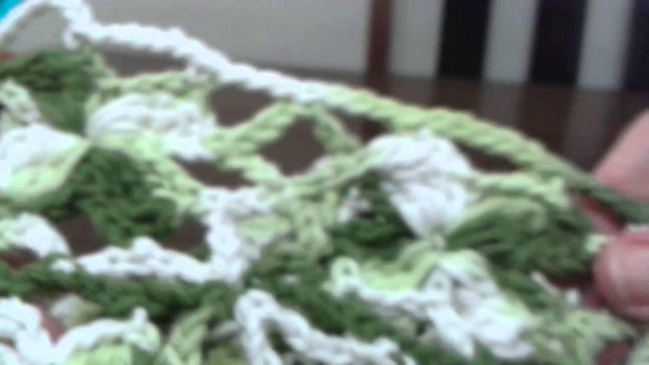 Tapete verde de croché parte 06 ( 04) #crochet #tapetedecroche