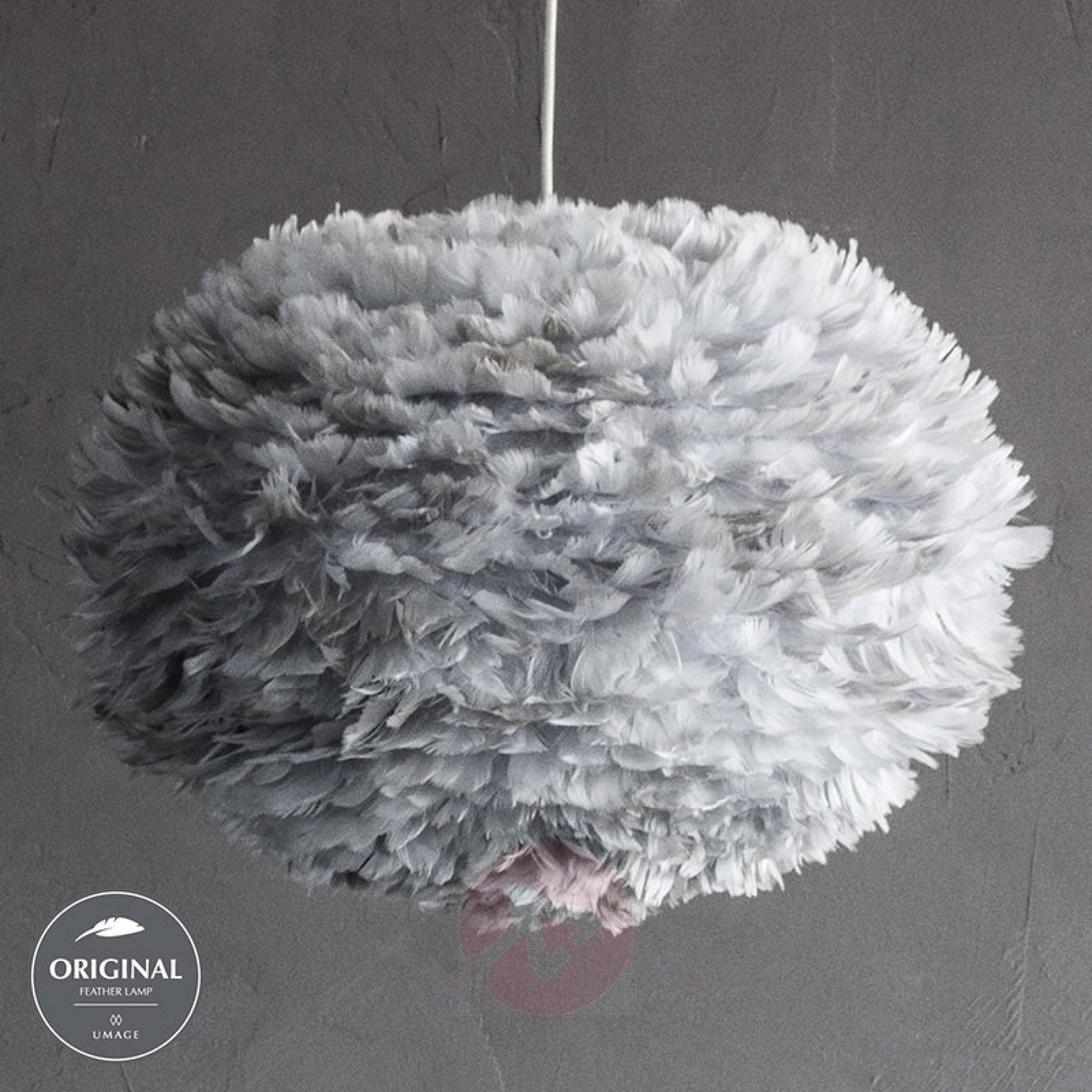 Umage Eos Large Hanging Light Light Grey In 2020 Feather Light