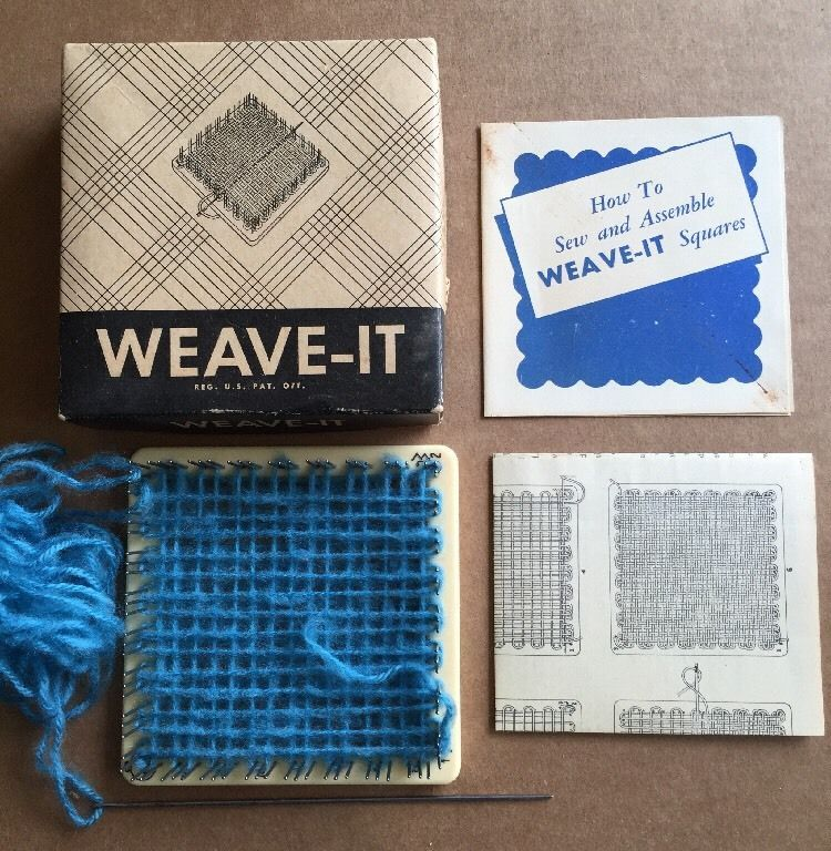 Weave It Bakelite Sewing Weaving Loom Original Box Instructions
