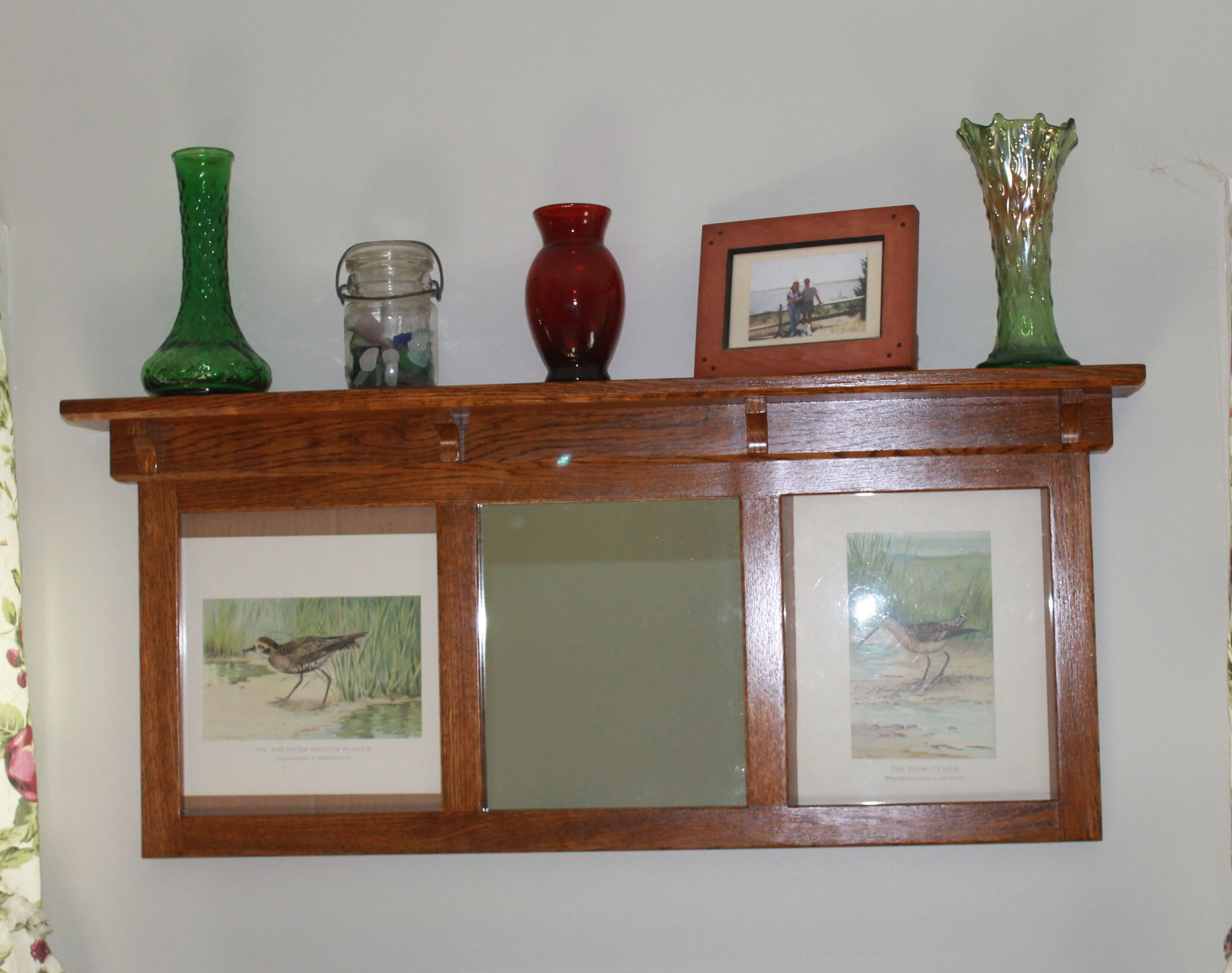 Mission Style Picture Framedisplay Shelf In Solid Quarter Sawn White Oak