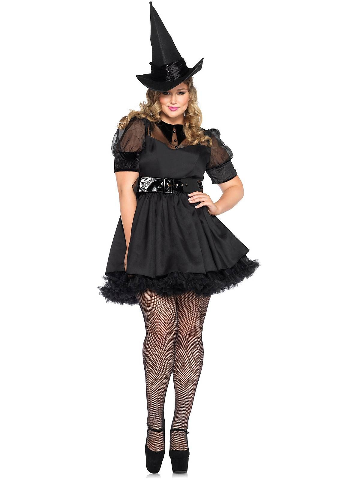 Women's Sexy Bewitching Witch Plus Costume   Witch Costumes ...
