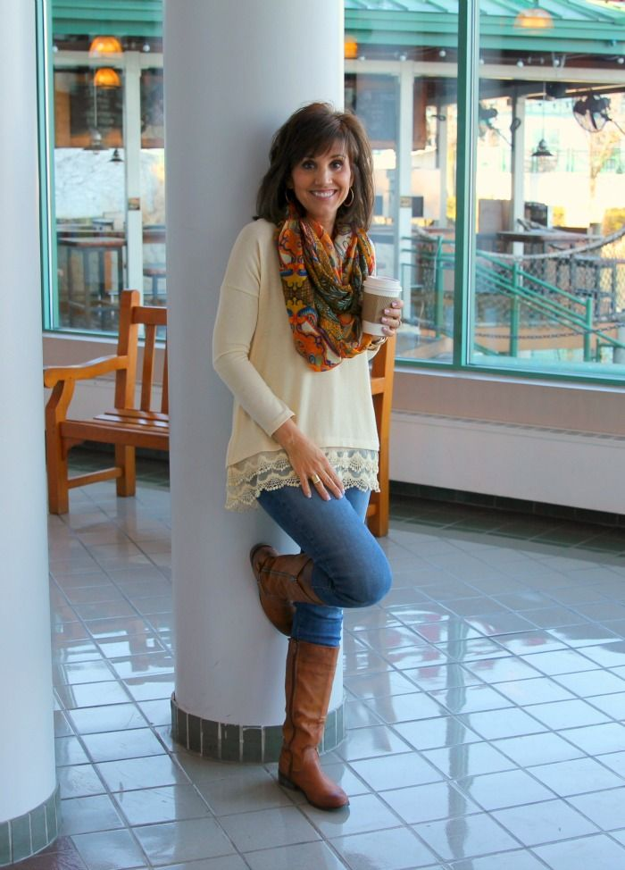 """Today I'm styling a lace and denim.I have already worn this lace top twice and I love it! Before I share my outfit, I wanted to share a little bit of the """"why"""" I work withGlamour Farms."""