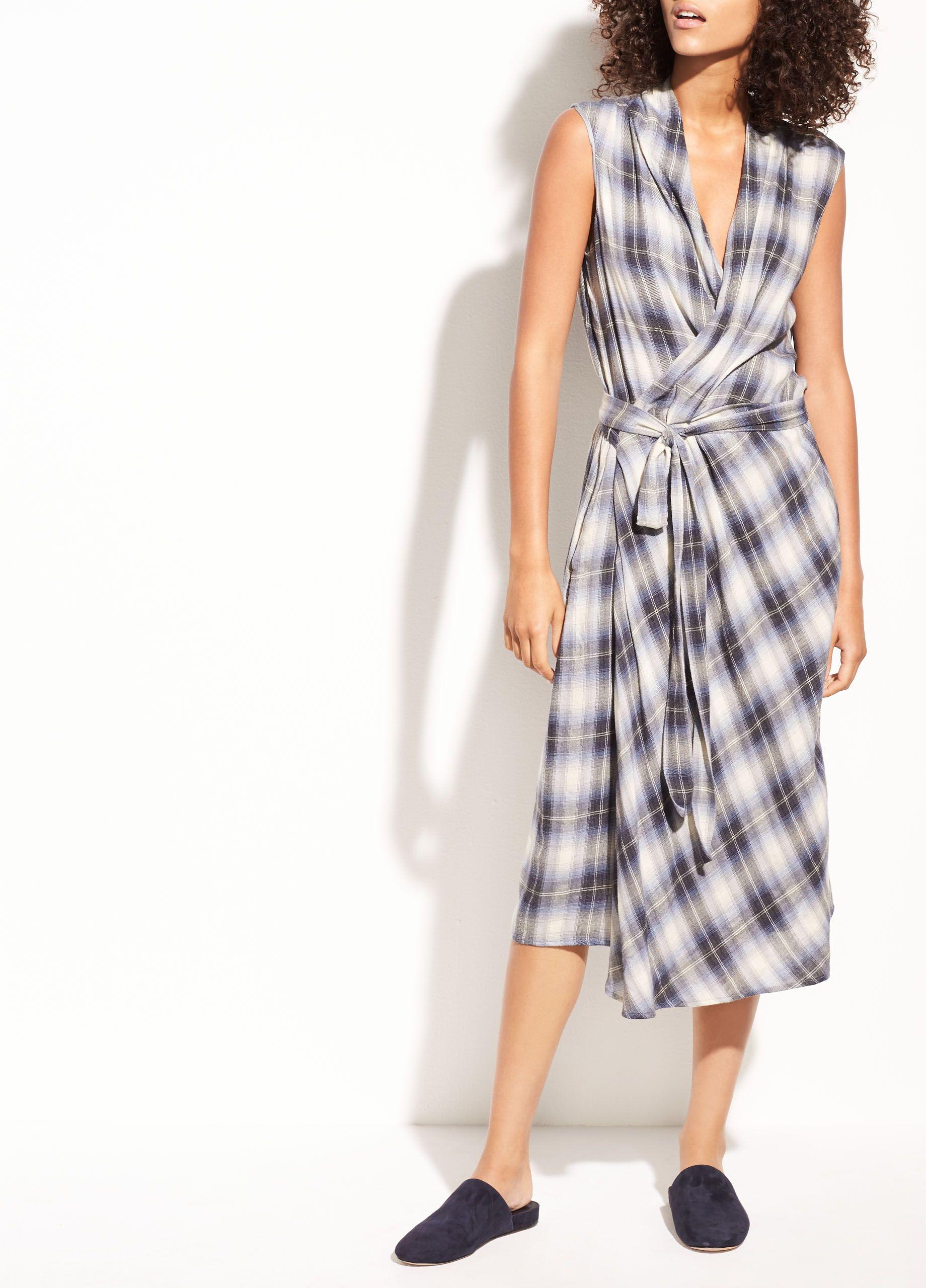 7848e6d93025c3 Sites-vince-Site - Vince   clothes in 2019   Wrap dress, Dresses, Cotton