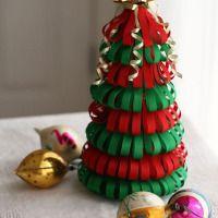 Arbolito navideño en origami