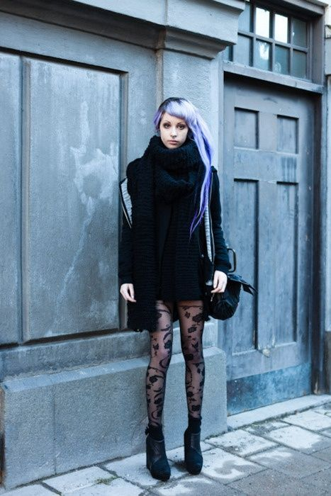 those tights though... | You Look So Cool in 2019 | Goth ...