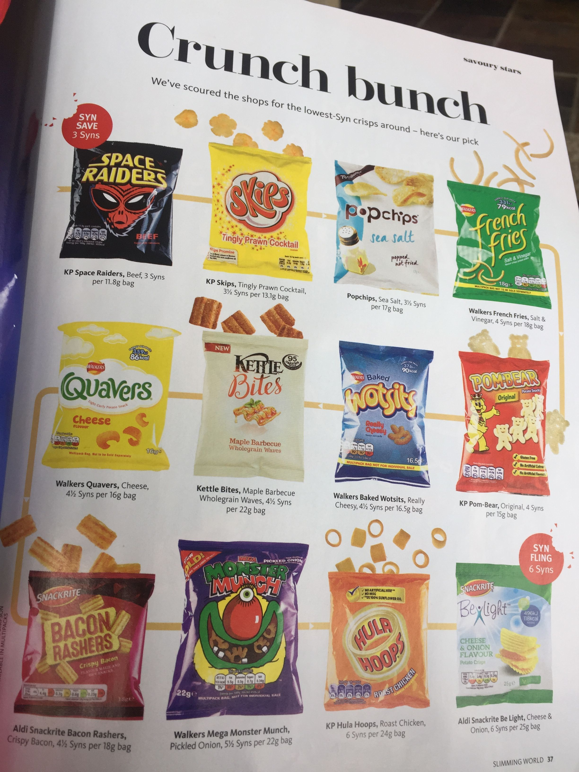 slimming perfect crisps snacks world low syn onLow