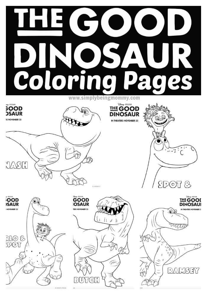 the good dinosaur coloring pages have fun with your children with these fun printable the - Childrens Coloring Pages Dinosaurs