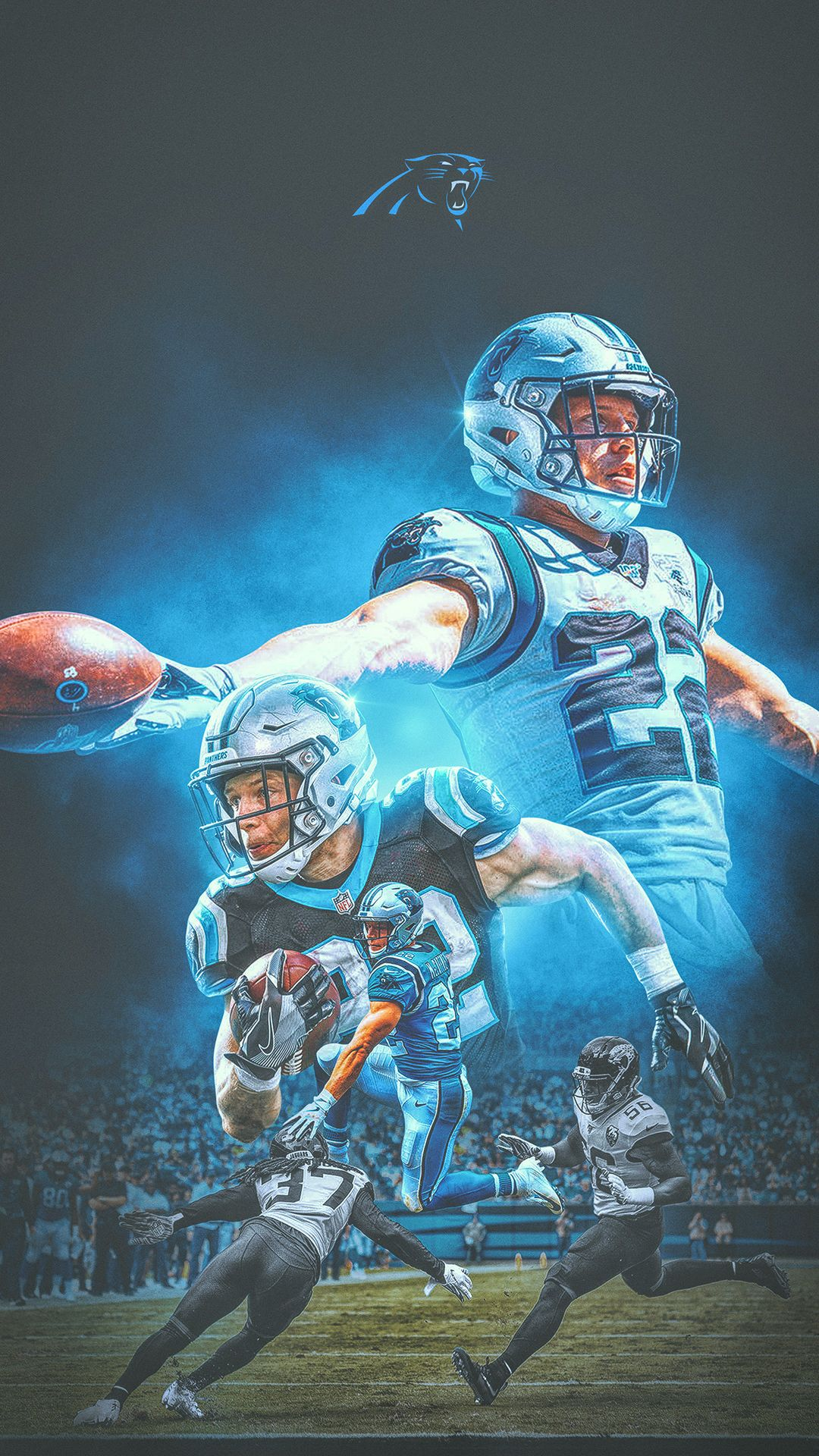 Behance For You Nfl Football Art Nfl Football Wallpaper Panthers Football