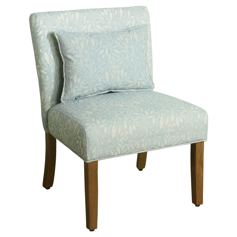Best Parker Accent Chair With Pillow Vine Mist Blue 400 x 300
