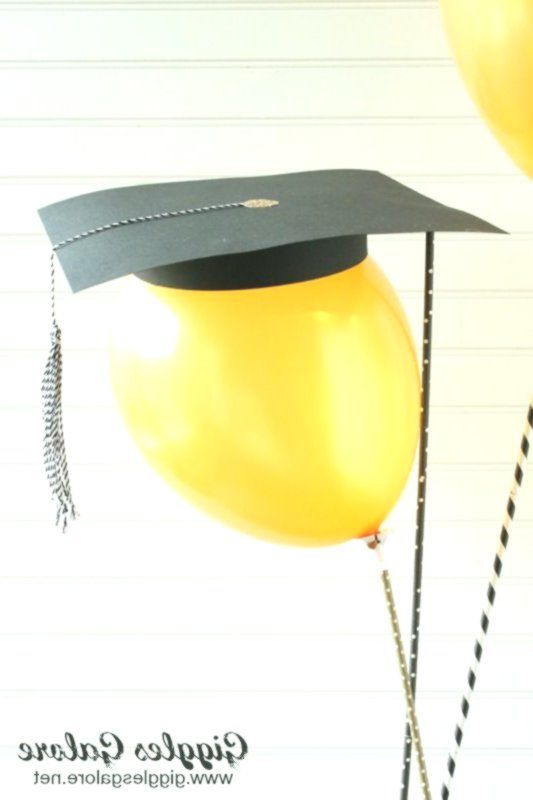 DIY Abschlussballon Kappe Quaste Geschenk Dekoration Idee
