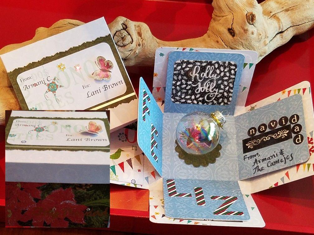 Box card for spanish teacher christmas gift teacher