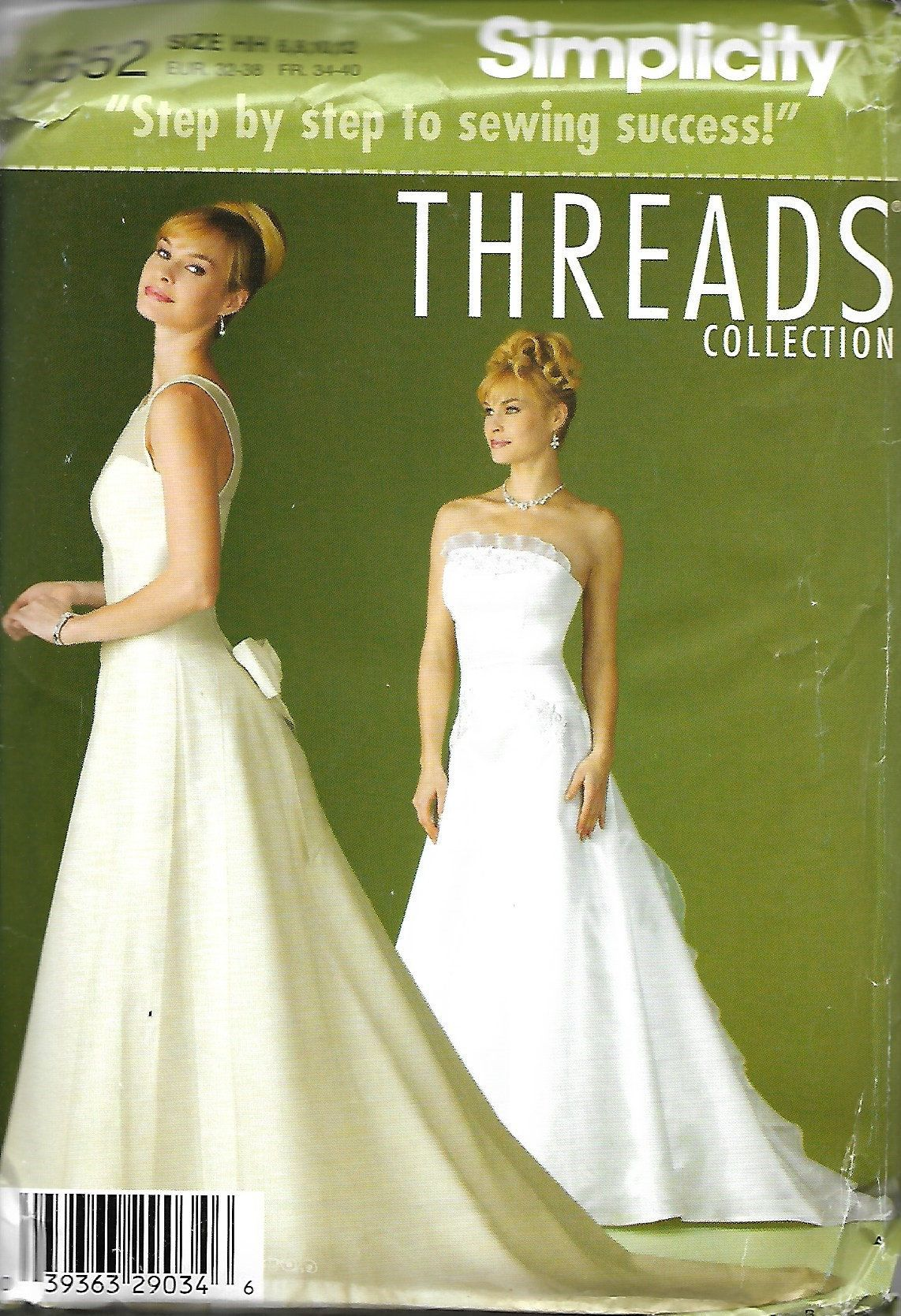 Simplicity 4652 Threads Collection Sewing Pattern, Misses Bridal ...