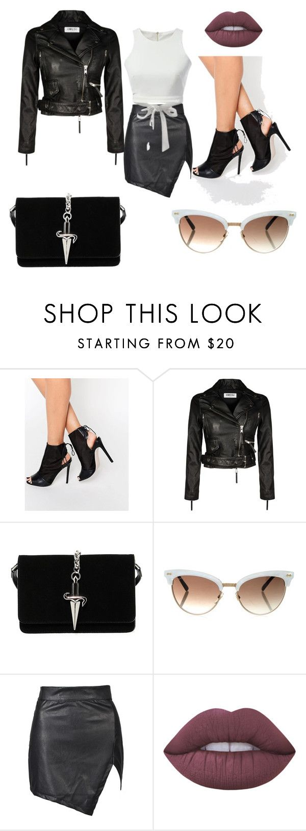 """""""Bez naslova #14"""" by semysemy ❤ liked on Polyvore featuring ASOS, Cesare Paciotti, Gucci and Lime Crime"""