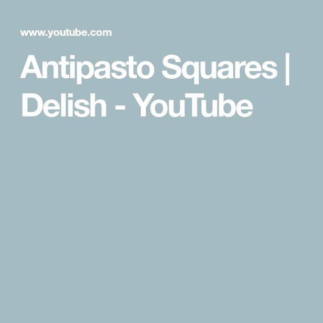 Antipasto Squares | Delish - YouTube #antipastosquares