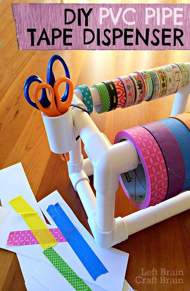 50 clever craft room organization ideas tape dispenser sewing 50 clever craft room organization ideas pvc projectshandyman projectssewing projectspvc pipesdiy solutioingenieria Choice Image