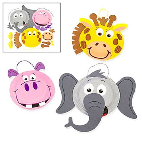 Paper Plate Zoo Animal Craft Kit  sc 1 st  Pinterest & Paper Plate Zoo Animal Craft Kit | Construction paper | Pinterest ...