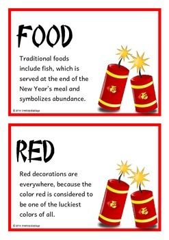 Chinese New Year Fact Cards By Treetop Resources Teachers Pay Teachers Chinese New Year Facts Chinese New Year Crafts Chinese New Year Traditions