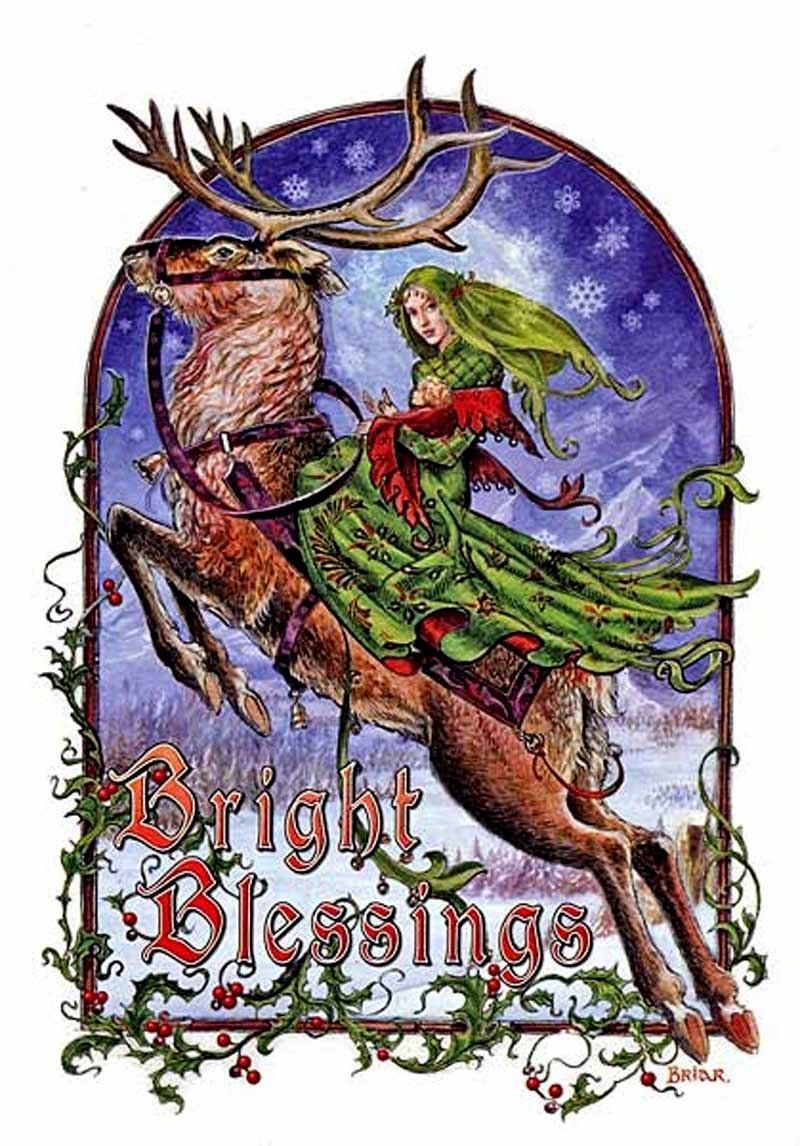 Briar Yule Midwinter Solstice Greeting Card Alternative Christmas