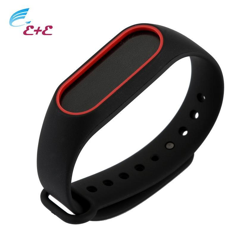 [Visit to Buy] Wrist Strap Bracelet Double Black Replacement Silicone watchband Colorful for Original For Xiaomi Mi Band 2 Bracelet Wristbands* #Advertisement