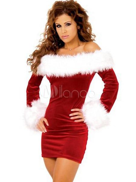 39b680f5ef Caliente el vestuario de la mujer de rojo Santa para Navidad - Milanoo.com