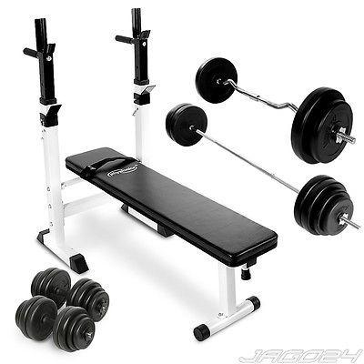 weight bench set weight rack sz curl bar 30kg dumbbell