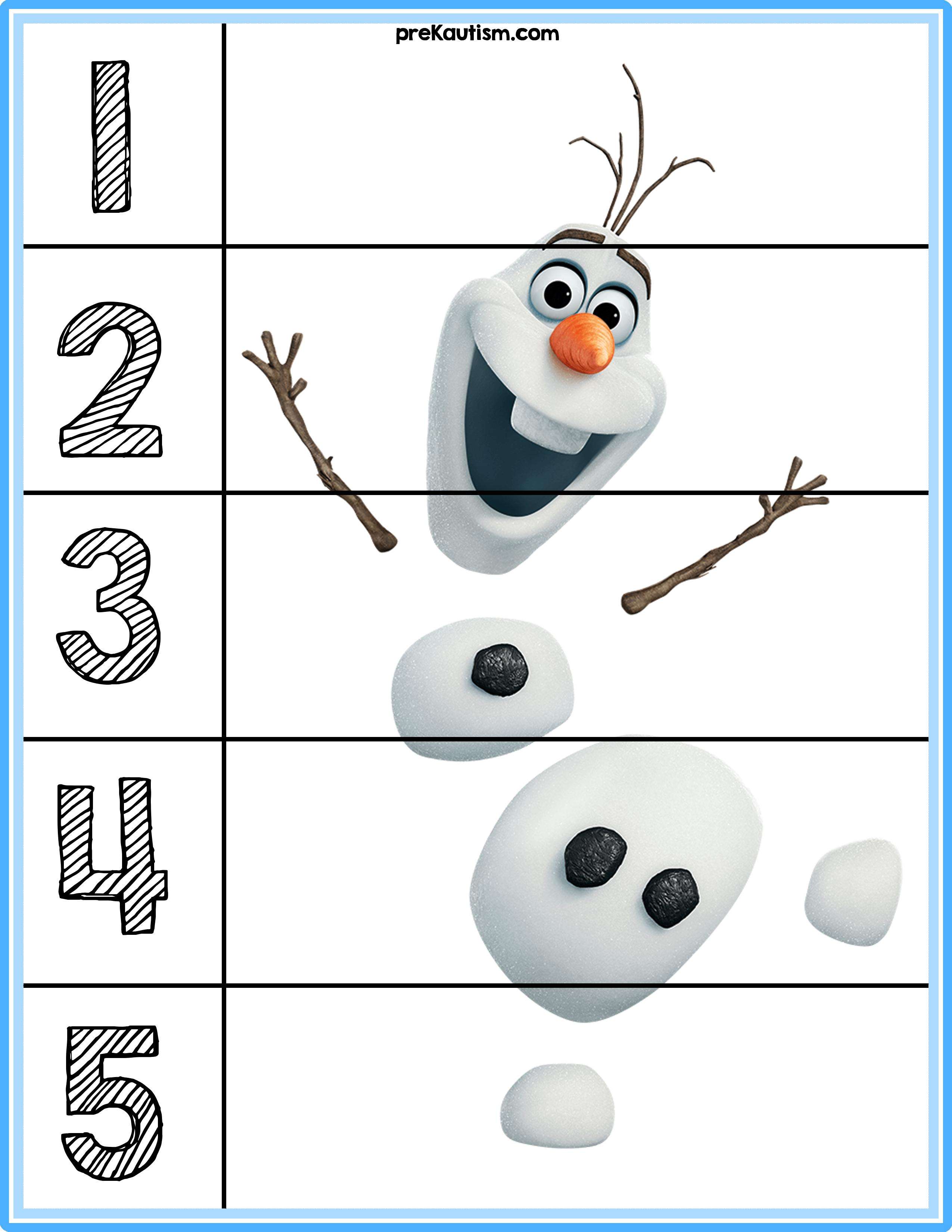 Free Frozen Puzzle