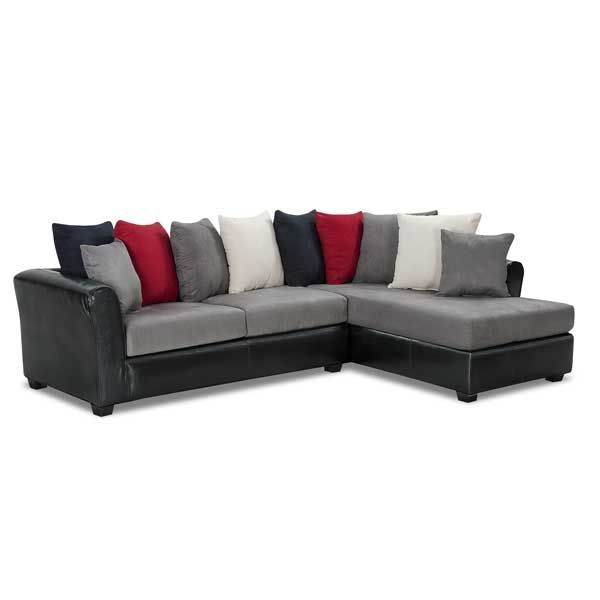 American Furniture Warehouse    Virtual Store    6707 6708 D 670 2PC Deja 2  Tone Sectional With RAF Washington Furniture